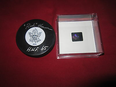 Red Horner Signed Toronto Maple Leafs Puck Coa Holo Autographed