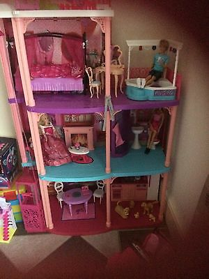 Large Barbie House And Car