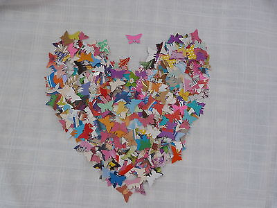 200 pcs of small butterflies shapes/punchies made of recycled paper cards
