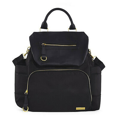 NEW Skip Hop Chelsea Chic Downtown Black Backpack Changing Bag
