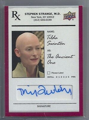 Upper Deck Doctor Strange TILDA SWINTON as THE ANCIENT ONE Auto Autograph SS-SW