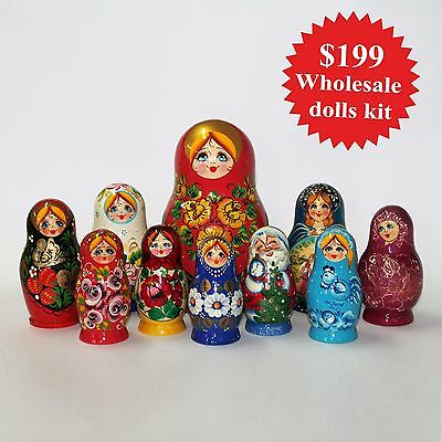 Nesting dolls. Wholesale dolls kit. Super cool unique offer for big growth.