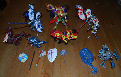 Knights and Dragons figures job lot