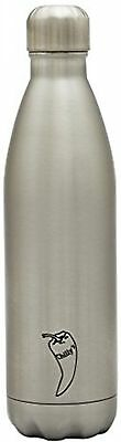 Chilly's Bottles Double Walled Vacuum Bottle - Silver 260ml NEW