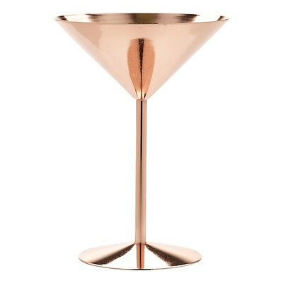 Copper Martini Glass 24cl/8.5oz Drinkware Bar Cocktails Glasses Tumbler Pub Mugs