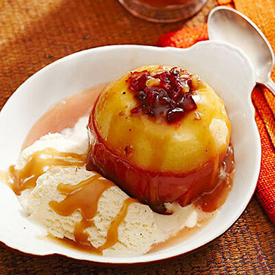 Cider-Baked Stuffed Apples with Salty Caramel Sauce Best Food Recipe