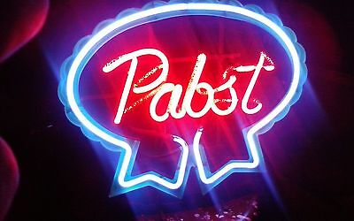Vintage Neon Pabst Blue Ribbon Beer Sign Bar Pub MADE USA CLASSIC