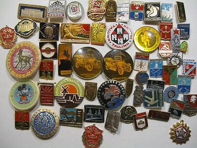 Lot N2  50+  Russian Soviet USSR different  badges .
