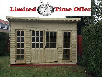 10x6 PENT SUMMER HOUSE SHED SUMMERHOUSE T&G ONLY 1AT THIS PRICE TRADE PRICE