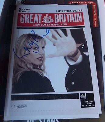 Lucy Punch Signed Great Britain Theatre Programme Hot Fuzz & Bad Teacher!