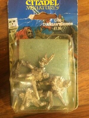 Chainsaw Warriors New in Blister Games Workshop 80s Metal Warhammer 40k