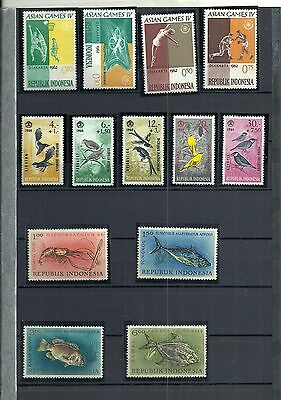 indonesie lot 13 timbres neufs (1962/1964)