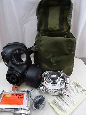 British Army S6 MKII  Respirator Spare Sealed Filter Haversack 1983&Survival Bag