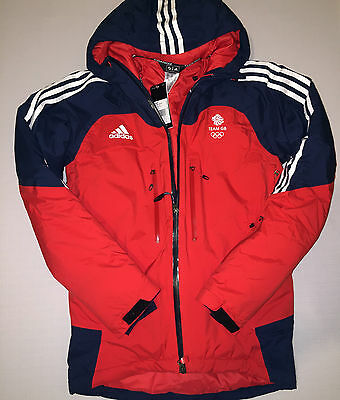 Team GB Olympic Jacket Winter Skiing Adidas ATHLETE ISSUE BNWT XS - S 32/34 UK 8