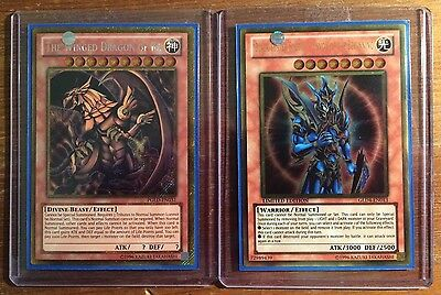 Yugioh Gold Secret Rare Egyptian God Card And Limited Edition Gold Rare