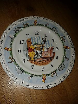 Winnie the Pooh - Royal Doulton Wall Clock / Plate