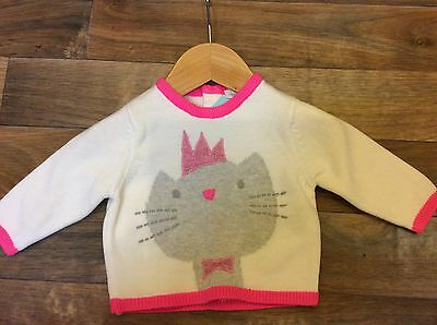 Baby Girl Next Kitty Knit Top Age 0-3 Months