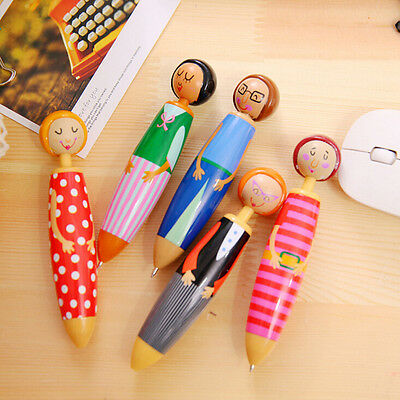 1X Cute Little Girl Chunky Ballpoint Pen School Office Supply Gift Stationery ft
