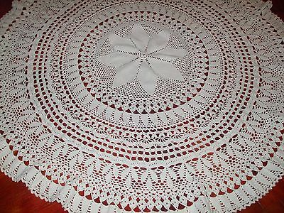 """on sale Vintage Style Crochet Round Cotton Tablecloth 45.2"""""""