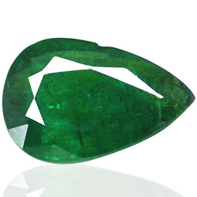 1.16 Cts Natural Top Green Emerald Loose Gemstone Pear Cut Zambia Untreated Best