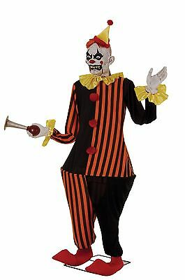 Halloween Life-Size Animated Scary Prop Evil Clown Haunted House Yard Decoration