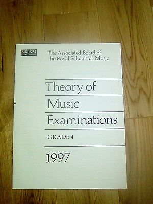 Abrsm grade 4 theory papers booklet 1997