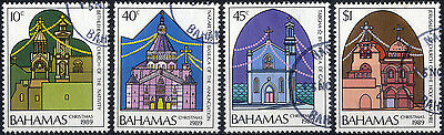 Bahamas SG 860 - 3 1989 Christmas. Churches of the Holy Land set of 4. Used.
