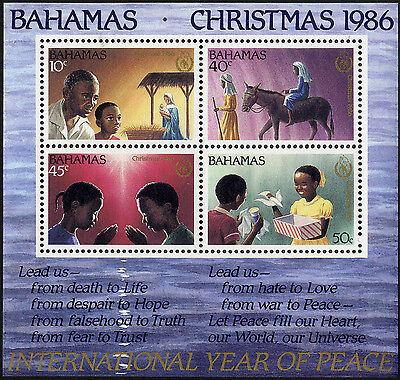 Bahamas - 1986 SG MS781 Christmas Miniature Sheet. UM/NH.