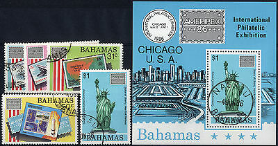 Bahamas - 1986 SG 746-MS751 'Ameripex 86' Stamp Exhibition Set. Used