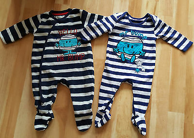 3-6 months baby boy Mr Men babygrow and fleece set ++Immaculate++
