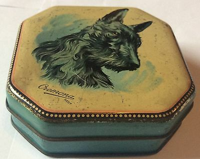 Vintage Wilkins Cremona Toffee Tin With Scottish Terrier Dog