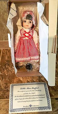 "Royalton Collection Little Miss Muffet 10"" Bisque Porcelain Hand Painted Doll"