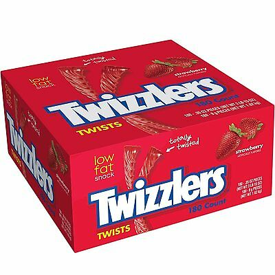 Twizzlers, Individually Wrapped Strawberry Twists, 180-Count