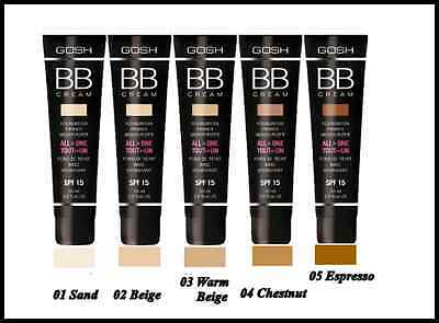 Gosh BB-Cream Foundation Primer Moisturizer All in One SPF 15 30ml / 5 Shades