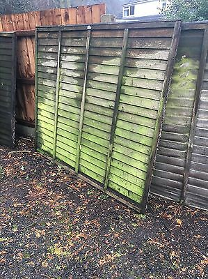 Fence panels X12 Used Bargain 6x5 Ft