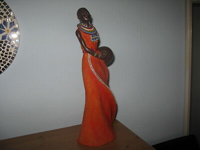 Eye catching Figure of African Lady. Unboxed & used but GC