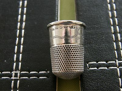Silver thimble by James Swan 1889