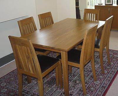 Marks & Spencer solid wood table and 6 chairs