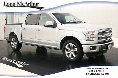 2015 Ford F-150 1 OWNER NAV DUAL PANEL MOONROOF LEATHER MSRP 57330 PLATINUM NAVIGATION SUNROOF 20IN CHROME WHEELS ADAPTIVE CRUISE 360 CAMERA