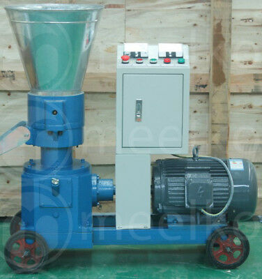 COMBO PELLET MILL 7.5kw 10HP + HAMMER MILL 1,5KW ELECTRIC, USA STOCK