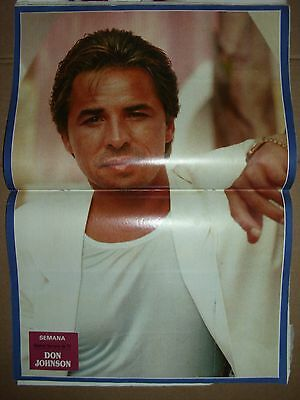 Miami Vice Tv, Don Johnson. Article + Poster Of Spanish Magazine.1987.clippings