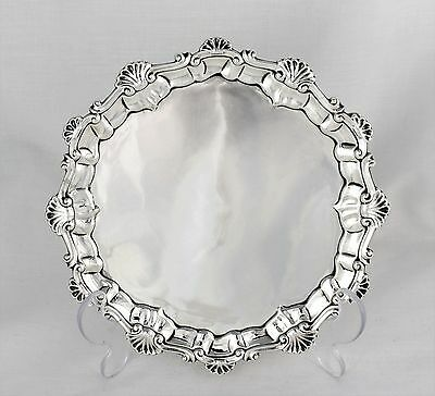 Unusual Early George III Silver Waiter Salver Ebenezer Coker London 1761 Antique