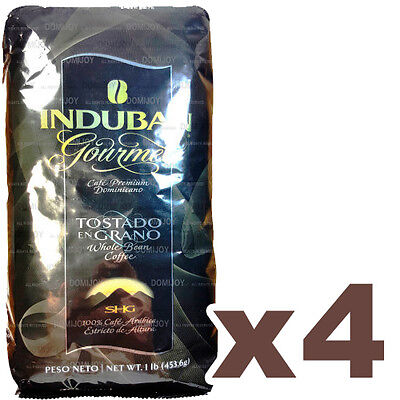 Induban Gourmet Roasted Bean Coffee 4 Pounds - Real Dominican Coffee