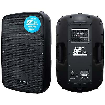 "Kam SF12A 12"" 500w RMS Active PA Speakers Pair"