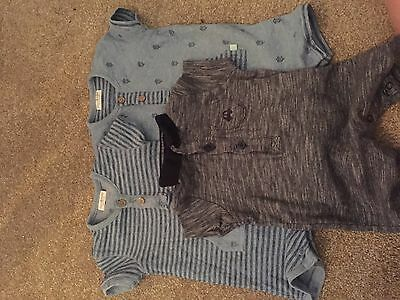 Next Baby Boys 0-3 Upto3 Months Rompers Babygrows Summer