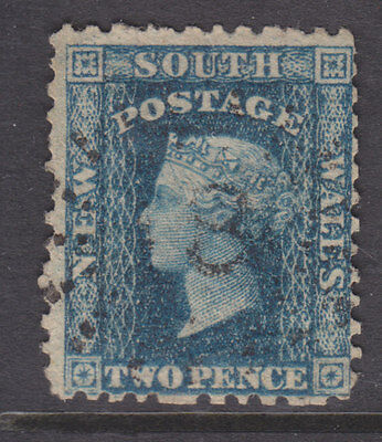 New South Wales 1860 perf 12 2d value good used