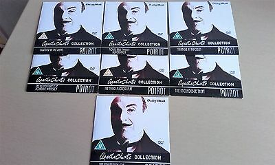 7 Agatha Christie POIROT DVD Collection Never Been Played Mint Condition