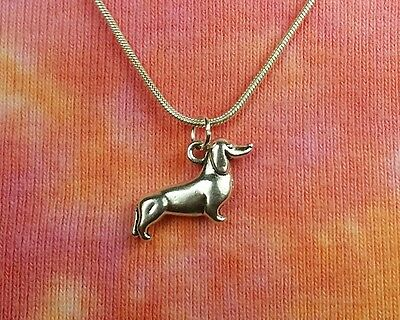 Dachshund Dog Necklace, 3D Weiner Dashound Double Sided Charm Pendant inGift Box