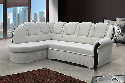 Brand New Fabric Corner Sofa Bed Lord - Storage Box Left / Right Hand Side