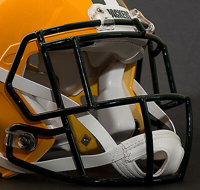 Riddell SPEED S2EG-II-SP Adult Football Facemask In GREEN BAY GOLD.